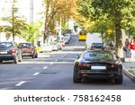 modern new car on the side of... | Shutterstock . vector #758162458
