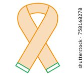 ribbon campaign isolated icon | Shutterstock .eps vector #758168278