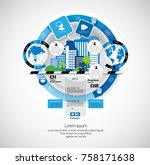 business infographic concept | Shutterstock .eps vector #758171638