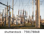 electrical substation equipment.... | Shutterstock . vector #758178868