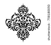 vintage baroque frame scroll...   Shutterstock .eps vector #758180050