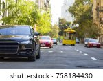 modern new car on the side of... | Shutterstock . vector #758184430