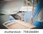 metal dental equipment tools... | Shutterstock . vector #758186884
