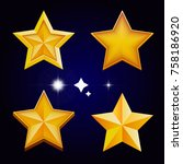 set of star vector icon  flat...