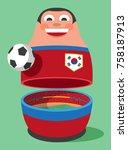 south korea soccer mascot | Shutterstock .eps vector #758187913