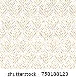 vector vintage art deco... | Shutterstock .eps vector #758188123