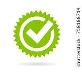 green approved star sticker... | Shutterstock .eps vector #758188714
