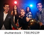 new year party  holidays ... | Shutterstock . vector #758190139