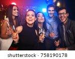 enjoying amazing party. group... | Shutterstock . vector #758190178