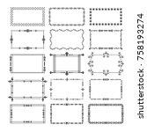 black rectangle frames and... | Shutterstock .eps vector #758193274