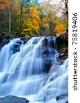 Bastion Falls in autumn NY State - stock photo