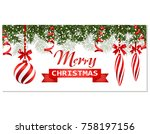 new year christmas. flyer ...   Shutterstock .eps vector #758197156