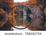 rakotz bridge  rakotzbrucke ... | Shutterstock . vector #758202754