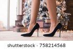 pretty legs in beautiful high... | Shutterstock . vector #758214568