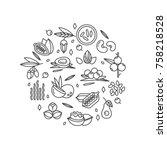 superfood vector concept.... | Shutterstock .eps vector #758218528