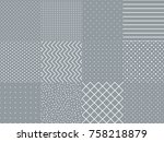 set collection with trendy...   Shutterstock .eps vector #758218879