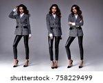 sexy pretty beautiful woman... | Shutterstock . vector #758229499