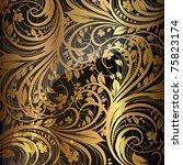 seamless wallpaper pattern gold ...