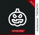 halloween pumpkin icon. holiday ... | Shutterstock .eps vector #758236714