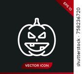 halloween pumpkin icon. holiday ... | Shutterstock .eps vector #758236720