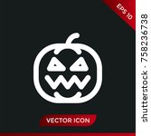 halloween pumpkin icon. holiday ... | Shutterstock .eps vector #758236738