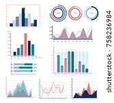 business graphs statistics and... | Shutterstock .eps vector #758236984
