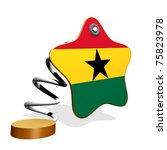 Ghana Flag Spring Banner - stock photo