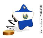 El Salvador Flag Spring Banner - stock photo