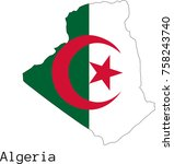 vector algeria  map silhouette  ...
