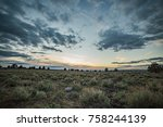 dramatic skies on steens... | Shutterstock . vector #758244139