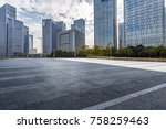 empty road with modern business ... | Shutterstock . vector #758259463