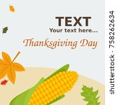 editable thanksgiving...   Shutterstock .eps vector #758262634