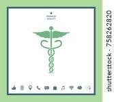 caduceus medical symbol | Shutterstock .eps vector #758262820