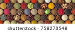 spice background  top view.... | Shutterstock . vector #758273548
