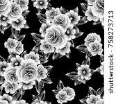 abstract elegance seamless... | Shutterstock .eps vector #758273713