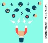 business man or internet... | Shutterstock .eps vector #758276824