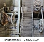 old rusting machinery and... | Shutterstock . vector #758278624