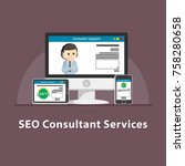 seo consultant services | Shutterstock . vector #758280658