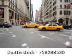 new york city  usa   nov 17 ... | Shutterstock . vector #758288530