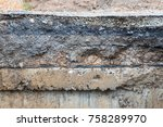 close up background of concrete ... | Shutterstock . vector #758289970