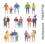 various members of the family.... | Shutterstock .eps vector #758307736
