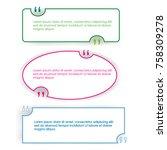 quote box set speech bubble...   Shutterstock .eps vector #758309278