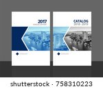 corporate cover design for... | Shutterstock .eps vector #758310223