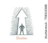 direction. the man is standing...   Shutterstock .eps vector #758310388