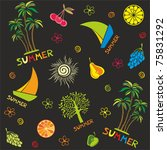 summer seamless pattern. vector ... | Shutterstock .eps vector #75831292