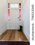 entrance hall in a victorian... | Shutterstock . vector #758313340