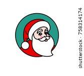 vector illustration of santa...   Shutterstock .eps vector #758314174