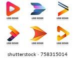 modern minimal vector logo for... | Shutterstock .eps vector #758315014