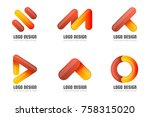 modern minimal vector logo for... | Shutterstock .eps vector #758315020