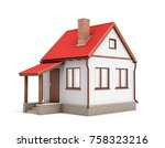 3d rendering of a small... | Shutterstock . vector #758323216
